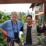 Edwardo, my guide at Arenal Observatory Lodge, Costa Rica